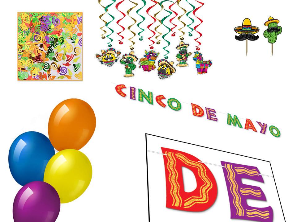Cinco de Mayo Murder mystery party decor kit