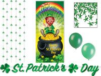 St. Patrick's Day decor kit for a murder mystery party game.