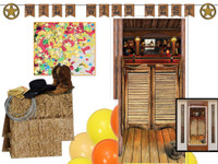 Wild West Murder Mystery Party decor kit.