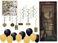 1920s murder mystery party game decor kit