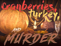 Boxed set of a Thanksgiving murder mystery game.