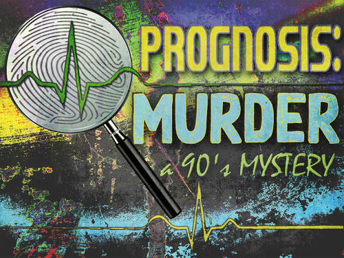 Party pack version of Prognosis Murder - a 1990s murder mystery game.
