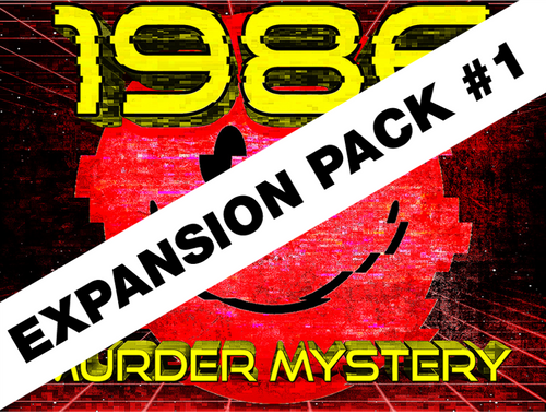 1986 murder mystery party game expansion pack for 16 players.