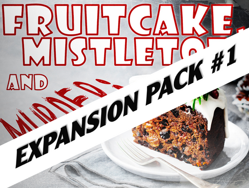 Fruitcake, Mistletoe, and Murder virtual mystery party expansion pack.