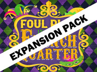 Foul Play in the French Quarter   Expansion pack for four players to add to your virtual Mardi Gras murder mystery game.
