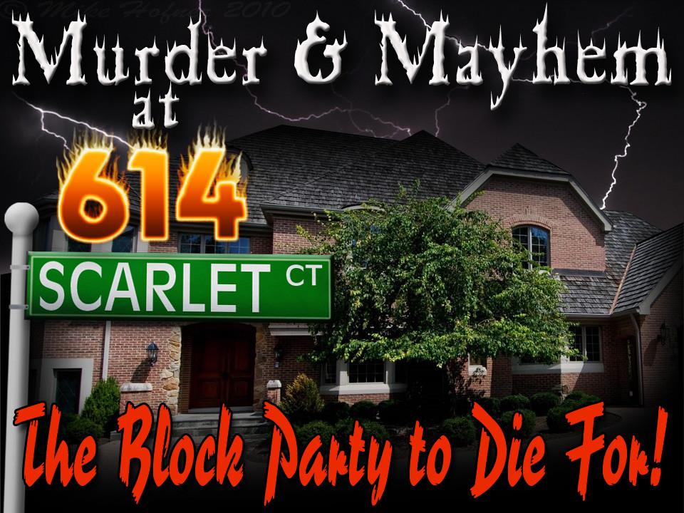 614 Scarlet Court murder mystery game