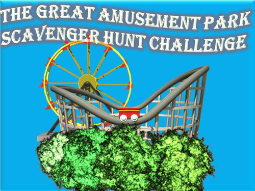 Amusement park scavenger hunt
