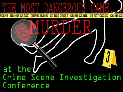 CSI boxed set murder mystery game
