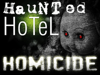 Haunted Hotel themed murder mystery party game.