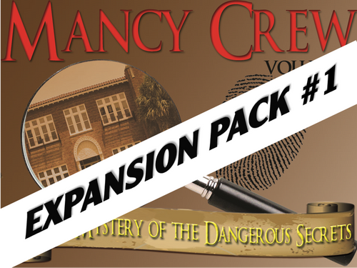 Mancy Crew volume I detective mystery party for kids expansion pack #1