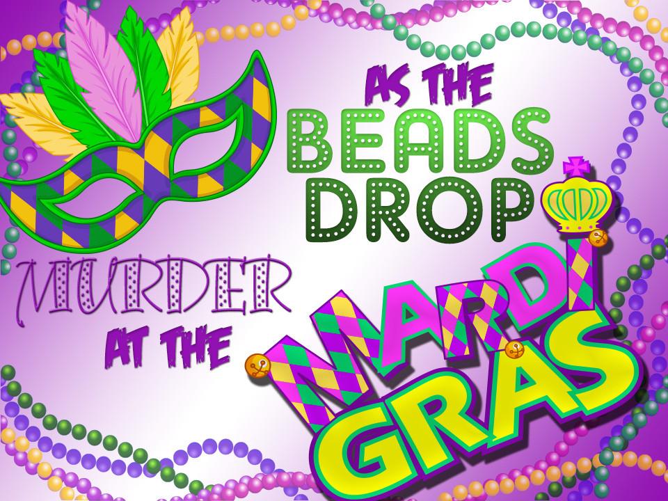 graphic relating to Mardi Gras Trivia Quiz Printable titled As the Beads Reduce: Mardi Gras Murder Key