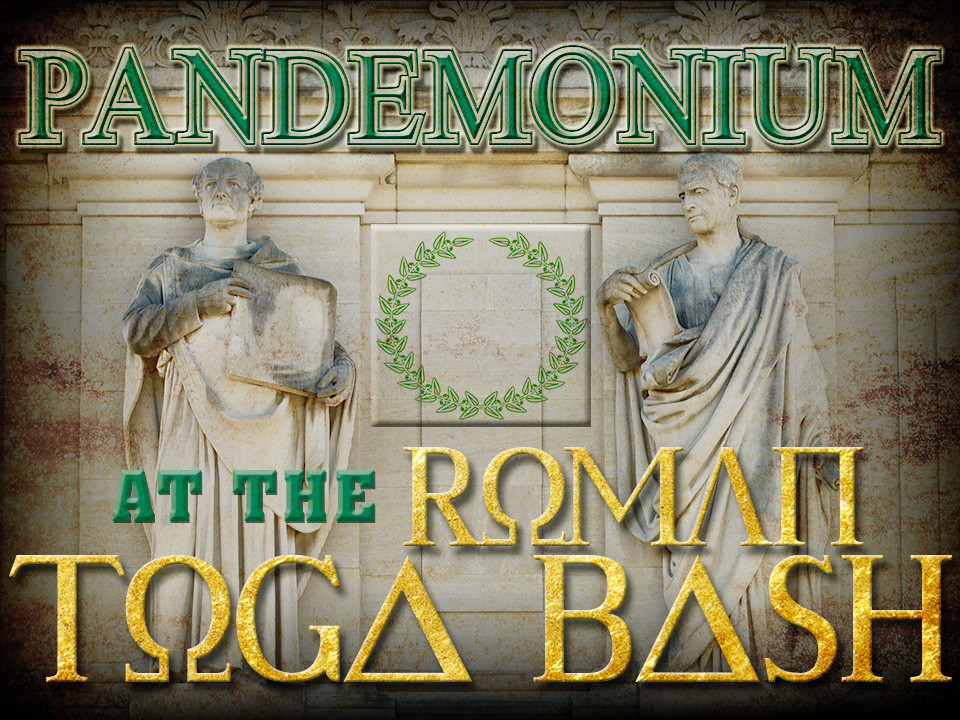 Roman Toga murder mystery party game