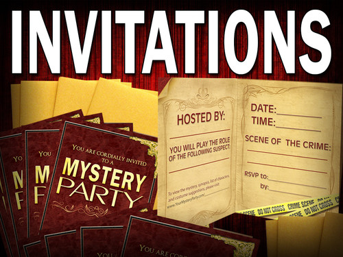Mystery party invitation