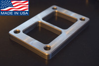 "Bluegrass Performance T6 Turbo Exhaust Flange 1/2"" Mild Steel CNC Machined Made in USA!"