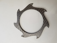 Carbon Fiber Saw Blade Exhaust Trim Ring