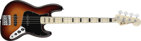 Fender Geddy Lee Jazz Bass, Maple Fingerboard, 3-Color Sunburst, 3-Ply Black Pickguard