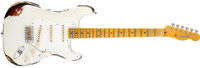 Fender Limited Heavy Relic Mischief Maker, Maple Fingerboard, Olympic White over 3-Color Sunburst