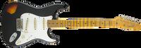 Fender Limited Heavy Relic Mischief Maker, Maple Fingerboard, Black over 3-Color Sunburst
