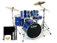 PDP Mainstage 5-piece Drum Set with Hardware & Meinl HCS Cymbal Pack