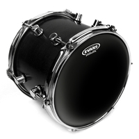 Evans Black Chrome Drum Head, 13 Inch