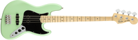 Fender American Performer Jazz Bass, Maple Fingerboard, Satin Surf Green