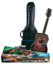 Ashton D25L Acoustic Guitar Starter Pack - Left Handed Guitar World Australia