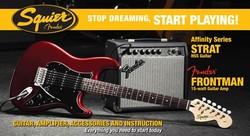SQUIER AFFINITY FAT STRAT HSS WITH FRONTMAN 15 AMP Guitar World AUSTRALIA PH 07 55962588