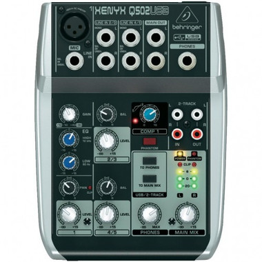 shop online for behringer q502usb 5 input mixer with usb in australia p a live sound pa mixers. Black Bedroom Furniture Sets. Home Design Ideas