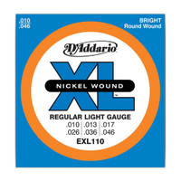 D'Addario, EXL110, 10-46, Nickel, Wound, Reg-Light, Electric, Guitar, Strings