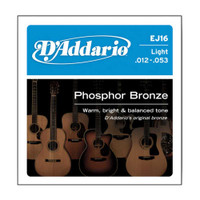 D'Addario, DAEJ16, 12-53, Phosphor, Bronze, Light, Acoustic, Guitar, Strings