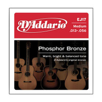 D'Addario, DAEJ17, 13-56, Phosphor, Bronze, Medium, Acoustic, Guitar, Strings