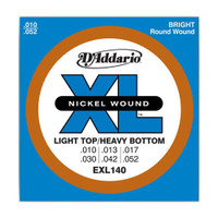 D'Addario, EXL140, 10-52, Nickel, Wound, Light, Top/Heavy, Bottom, Electric, Guitar, Strings