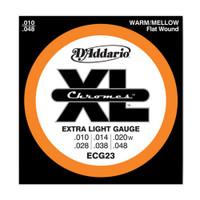 D'Addario, ECG23, 10-48, Chromes, Flat, Wound, Electric, Guitar, Strings
