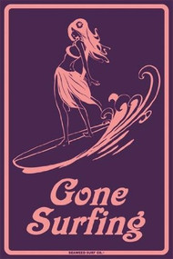 Seaweed Surf Gone Surfing Girl Surf Sign