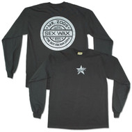 Sex Wax Men's Black Silverstar Long Sleeve Tee