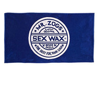 Sex Wax Beach Towel Blue