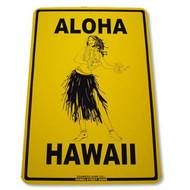 Aloha Hawaii 12 Inch x 18 Inch Decorative Aluminum Street Sign