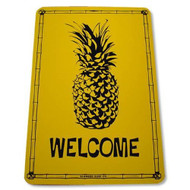 Welcome Pineapple Tropical 12 Inch x 18 Inch Aluminum Street Sign