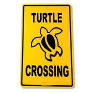 Turtle Crossing Decorative Aluminum Sign 12 Inch x 18 inch