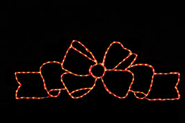 LED light display of a beautiful flowing red bow