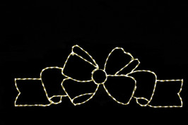 LED light display of a beautiful flowing warm white bow