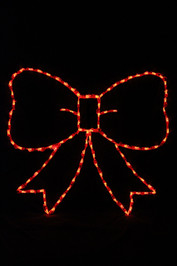 LED light display of red bow