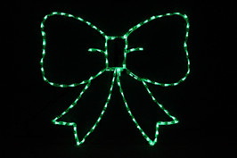 LED light display of a Green Bow