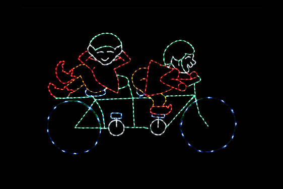 Bicycling Elves - Animated
