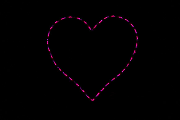 Pink heart outdoor decoration