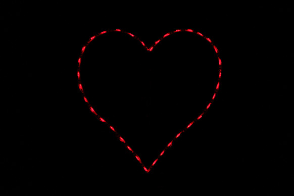 Red heart outdoor decoration
