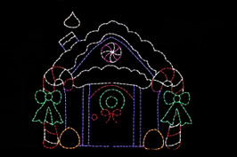 House made of candy outdoor light up decoration