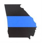 Thin Blue Line Sticker - State of Georgia