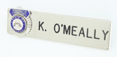 Name Plate - Department of Corrections (Allow 4 to 6 weeks)