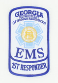 Georgia EMS Patch - First Responder Rocker